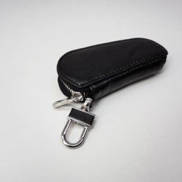 hashbag_kb_01_men_genuine_leather_keybag_keychain_black_back_oblique