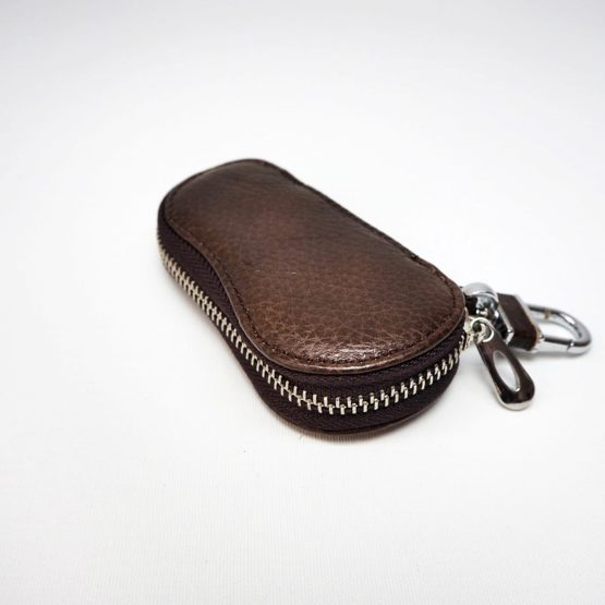 hashbag_kb_02_men_genuine_leather_keybag_keychain_darkbrown_front_oblique