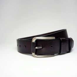 hashbag_lb_03_men_genuine_leather_belt_big_wide_half_inch_casual_jeans_darkbrown_roll_front